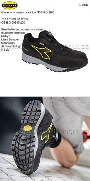 Diadora Utility - Chaussures de sécurité GLOVE MDS MATRYX QUICK LOW S3 HRO SRC