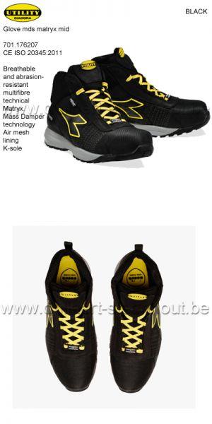 Diadora Utility - Chaussures de sécurité GLOVE MDS MATRYX MID S3 HRO SRC