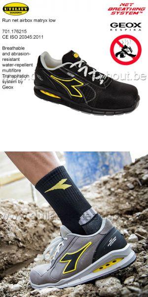 Diadora Utility - Chaussures de sécurité RUN NET AIRBOX MATRYX LOW S3 SRC