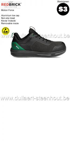Redbrick Motion - Force S3 Chaussures de sécurité - noir/vert