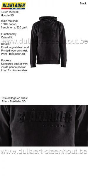 Blaklader - 353011589900 Sweat à capuche 3D - noir