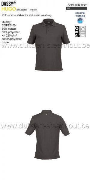 DASSY® Hugo (710039) Polo adapté au lavage industriel - gris anthracite
