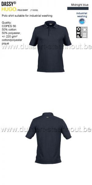 DASSY® Hugo (710039) Polo adapté au lavage industriel - bleu nuit