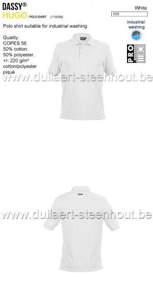 DASSY® Hugo (710039) Polo adapté au lavage industriel - blanc