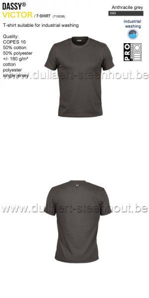 DASSY® Victor (710038) T-shirt adapté au lavage industriel - gris anthracite