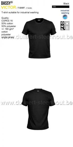 DASSY® Victor (710038) T-shirt adapté au lavage industriel - noir