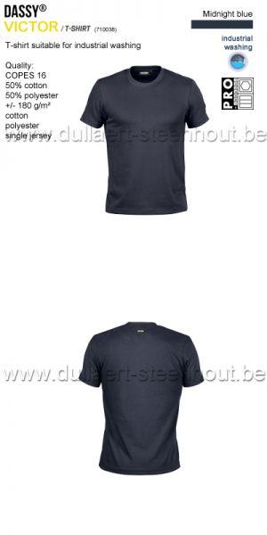 DASSY® Victor (710038) T-shirt adapté au lavage industriel - bleu nuit