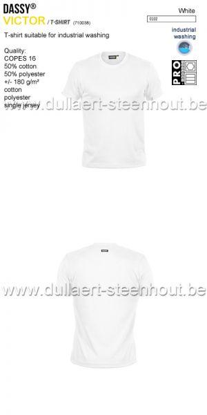DASSY® Victor (710038) T-shirt adapté au lavage industriel - blanc