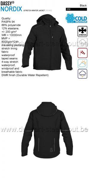 DASSY® Nordix (300463) Veste hiver stretch - noir