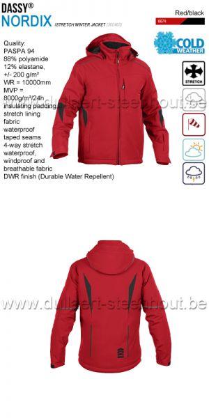 DASSY® Nordix (300463) Veste hiver stretch - rouge