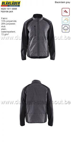 Blaklader - 492919119998 Veste hybride - noir/gris