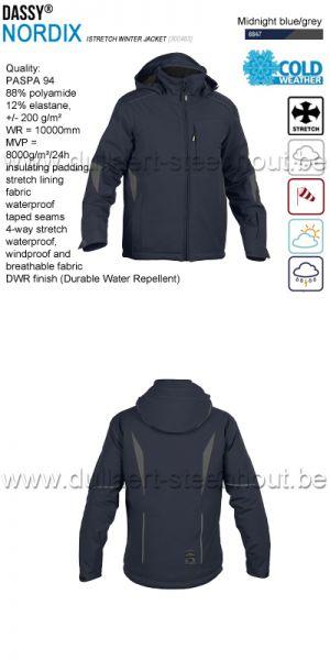 DASSY® Nordix (300463) Veste hiver stretch - bleu nuit