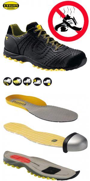 Diadora chaussures de travail Beat textile S1P noir