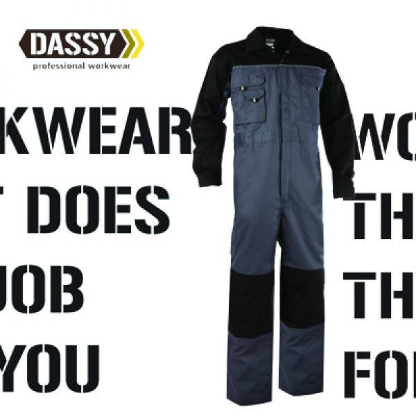 Dassy - Cannes (100286) Combinaison bicolore avec poches genoux gris/noir
