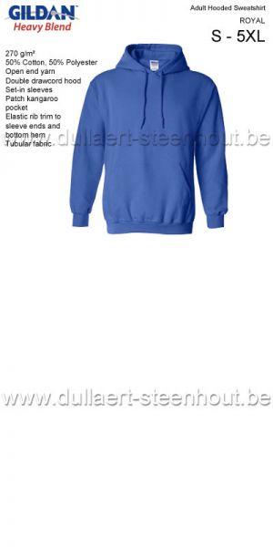 GILDAN - Sweat Hooded  18500  - Bleu roi