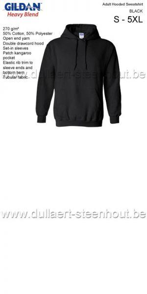 GILDAN - Sweat Hooded 18500 Noir