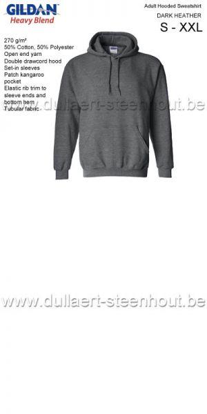 GILDAN - Sweat Hooded 18500 Gris foncé