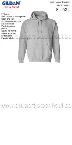 GILDAN - Sweat Hooded 18500 - SPORT GREY