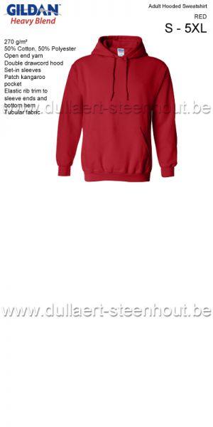 GILDAN - Sweat Hooded 18500 Rouge