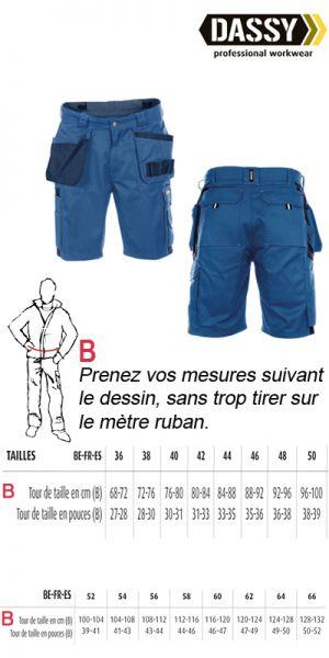 Dassy - Short de travail / bermuda de travail Monza bleu marine