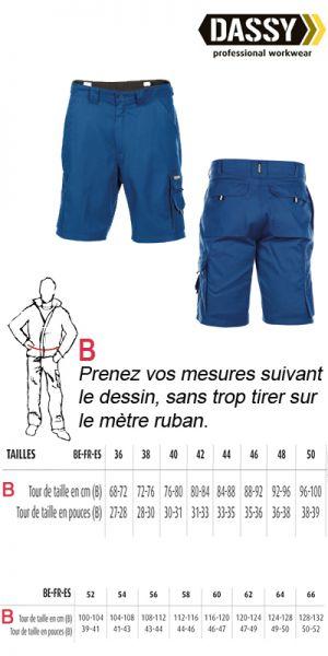 Dassy - Short de travail / bermuda de travail Bari bleu royal