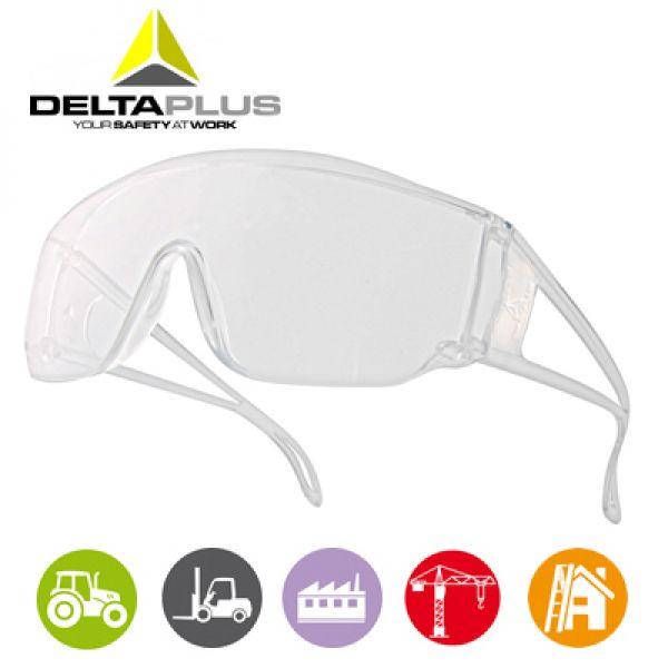 Deltaplus Piton2  Lunettes polycarbonate monobloc incolore très légère