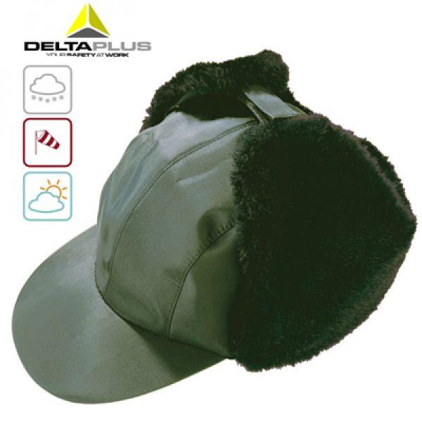Casquette fourrée polyamide / intérieur doublure ouate - vert
