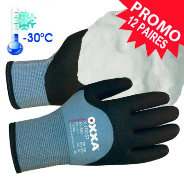 PROMO X-FROST Gants résistant au froid (-30°C) avec une excellente grip