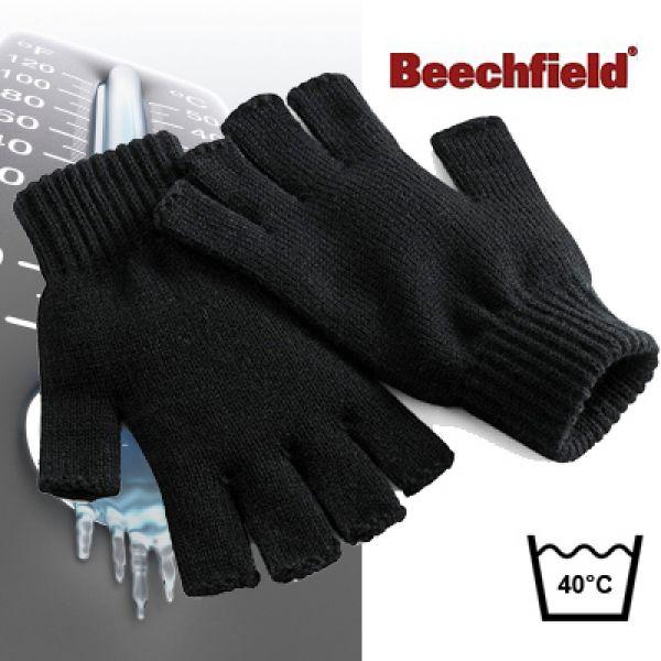 Beechfield - Gants sans doigts / noir L/XL
