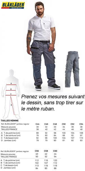 Blaklader - Pantalon de travail gris - 1532 1860 9400
