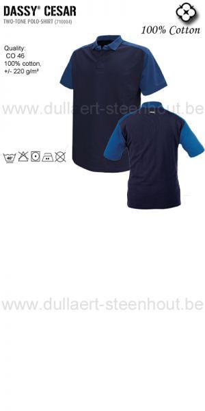 Cesar (710004) Polo bicolore marine/bleu roi