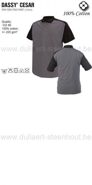 Cesar (710004) Polo bicolore gris/noir