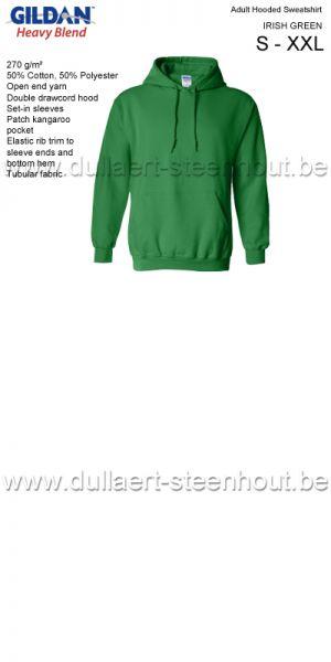 Sweat Hooded GILDAN 18500 Irish green