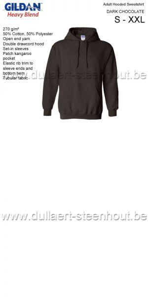 GILDAN - Sweat Hooded 18500 Brun