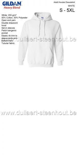 GILDAN - Sweat Hooded  18500 blanc