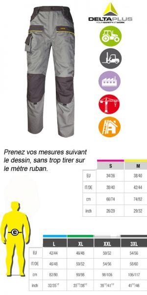 Deltaplus pantalon de travail MACH2 Corporate MCPANGR 9d79212d980