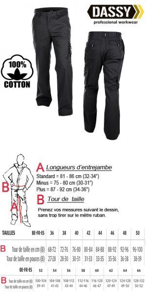 Dassy - Liverpool coton (200548) Pantalon de travail / noir