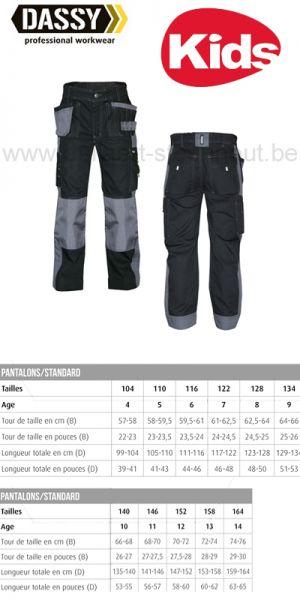DASSY® Seattle Kids (200847) Pantalon de travail multi-poches bicolore