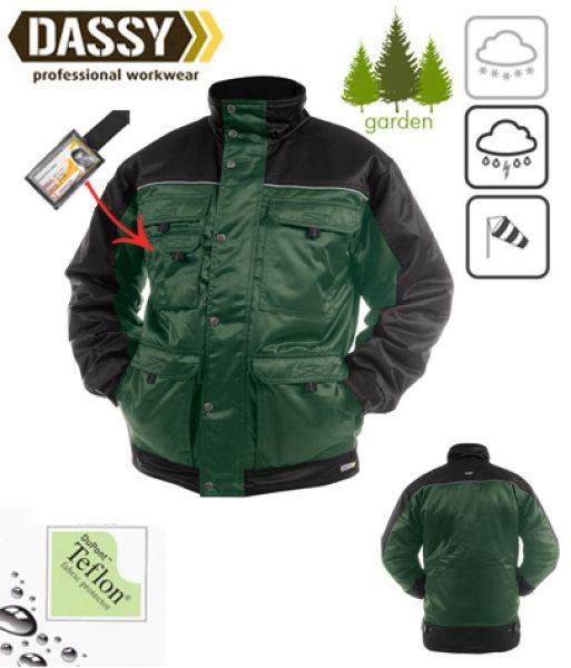 DASSY® Tignes (500087) Veste hiver beaver bicolore - vert / noir