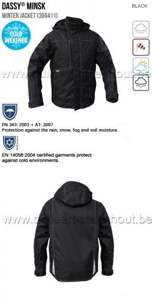 DASSY® Minsk (300411) Veste hiver - noir