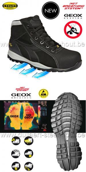 Diadora - Chaussures de sécurité GEOX S3 SRA HRO ESD Glove Tech High Pro