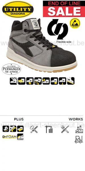 Diadora - Chaussure de sécurité haute DIADORA D-JUMP HI PRO S3 SRC ESD gris / Noir