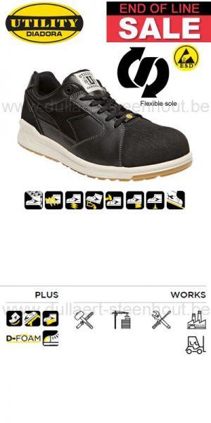 Diadora - Chaussure de sécurité basse DIADORA D-JUMP LOW PRO LX S3 SRC ESD Noir