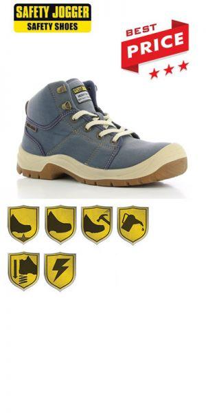 Safety Jogger - Chaussures de sécurité S1P Desert / Jeans blue