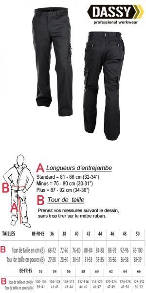Dassy Pantalon de travail - Liverpool Noir