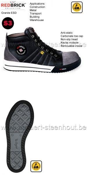 Redbrick Granite - Chaussures de sécurité sneaker S3 ESD Antistatique