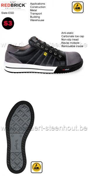 Redbrick Slate - Chaussures de sécurité sneaker S3 ESD Antistatique