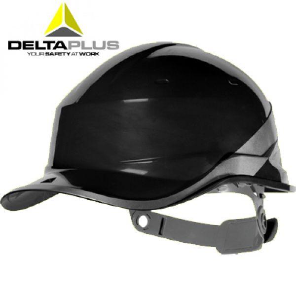 Deltaplus Casque de chantier forme casquette BASEBALL NOIR