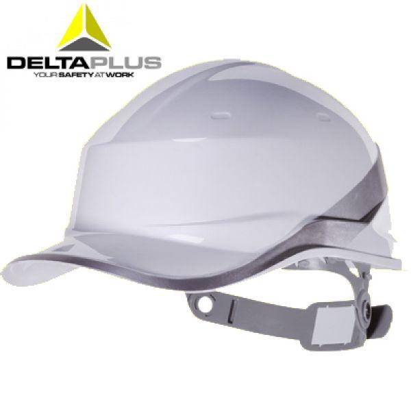 Deltaplus Casque de chantier forme casquette BASEBALL BLANC