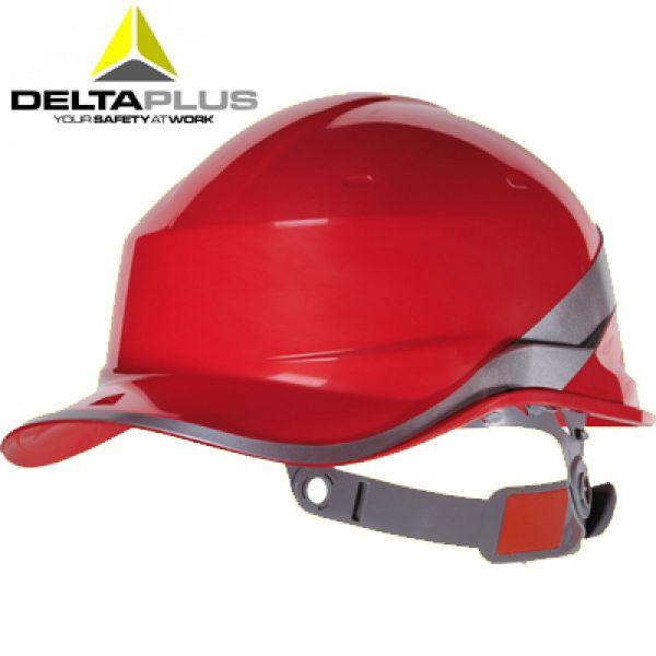 Deltaplus Casque de chantier forme casquette BASEBALL ROUGE